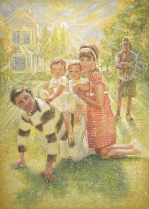 SELF PORTRAIT WITH HAPPY FAMILY