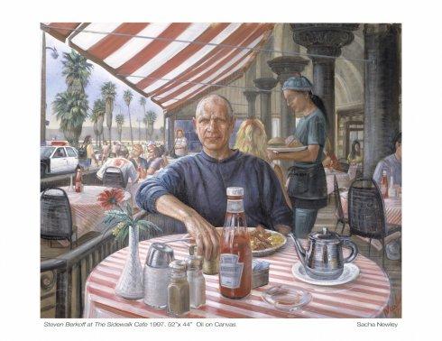 STEVEN BERKOFF AT THE SIDEWALK CAFÉ