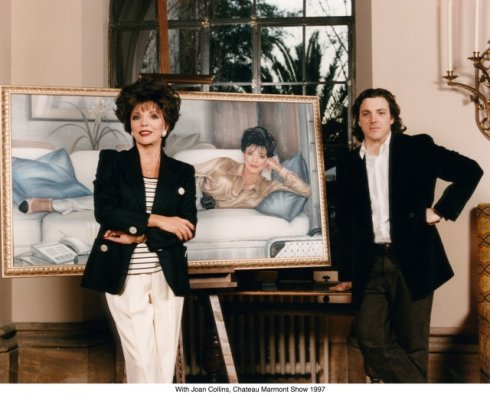 With Joan Collins